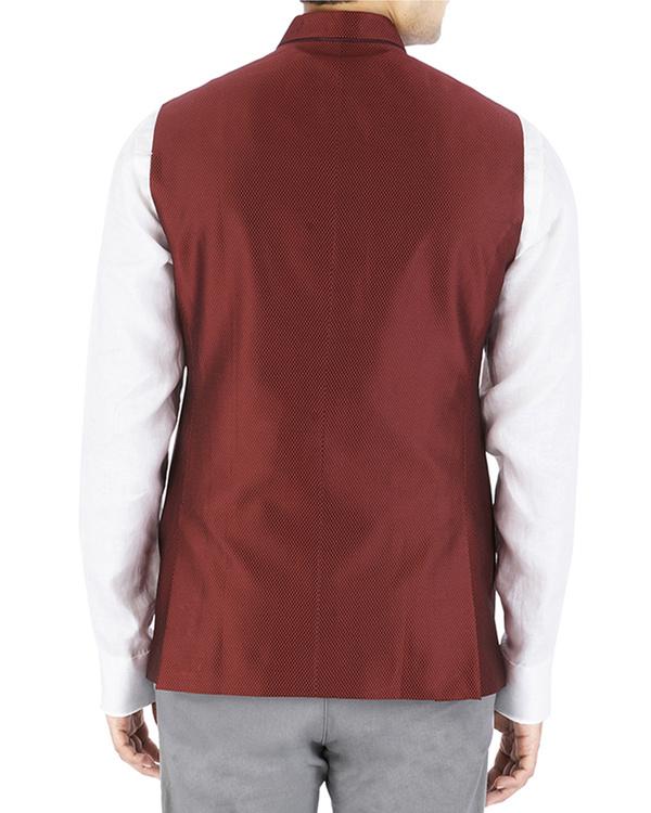 Maroon nehru jacket 1