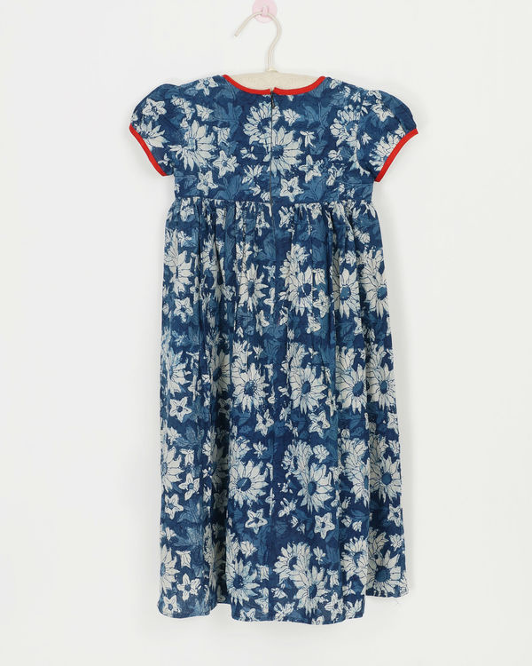 Blue dahlia dress 1