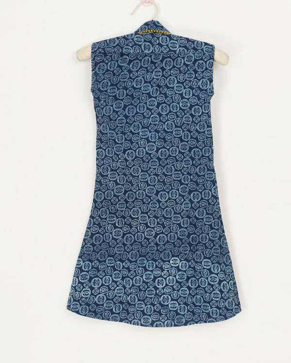 Blue coin dress 1