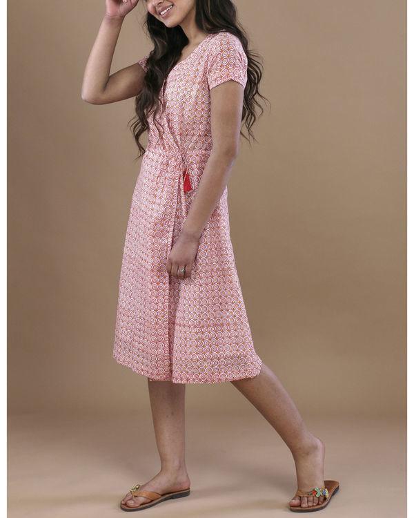 Pink floral angrakha dress 1
