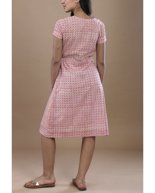 Pink floral angrakha dress 2
