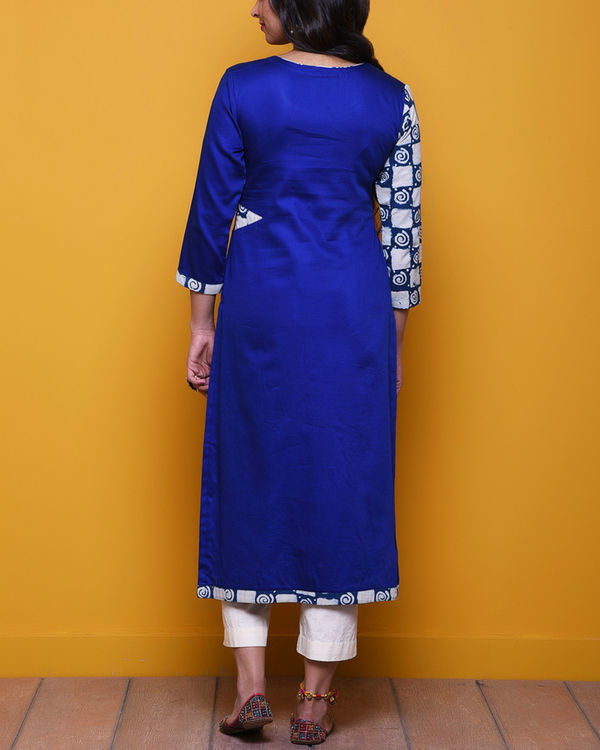 Royal blue printed sleeves tunic 2