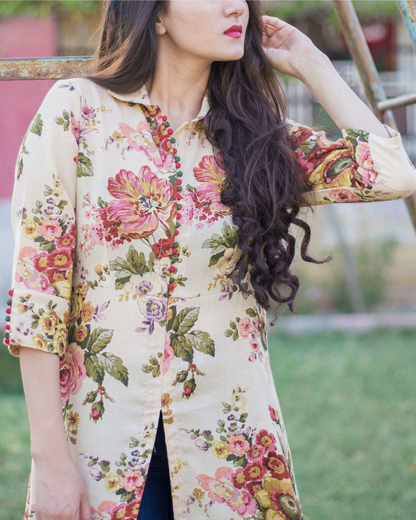 Floral crush tunic 1