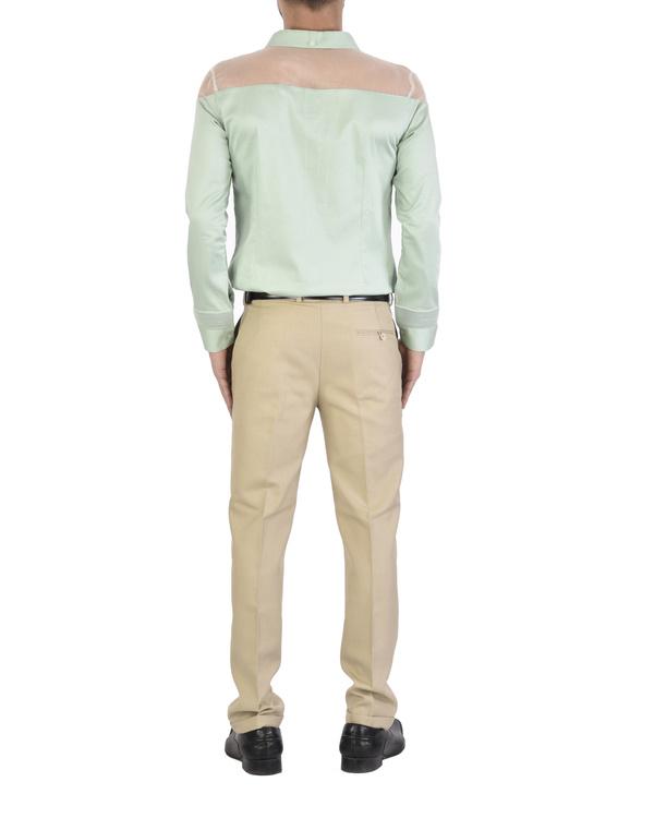 Mint sheer shoulder shirt 2