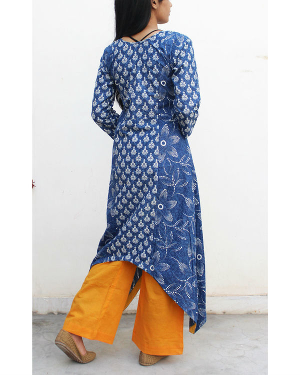 Set of indigo handkerchief kurta with palazzo 2