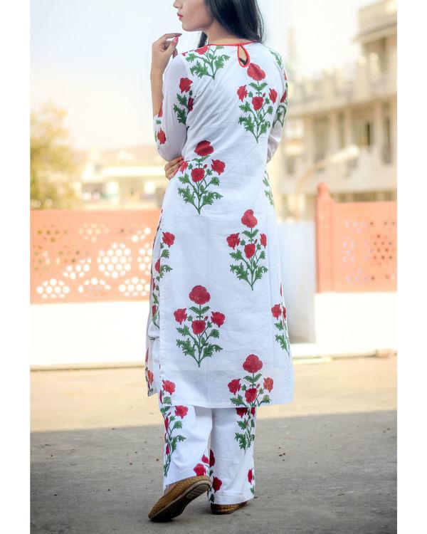 White rose kurta set 1
