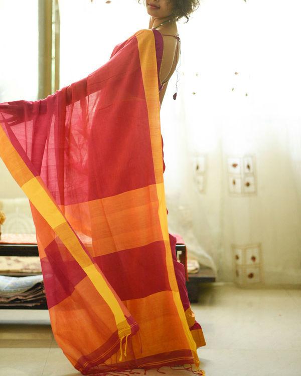 Sunshine and rose sari 1