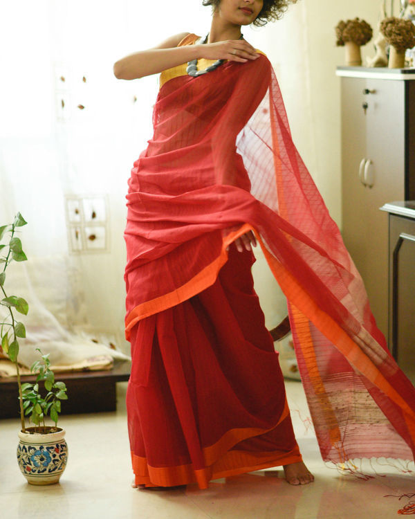 Yellow and red sari 1