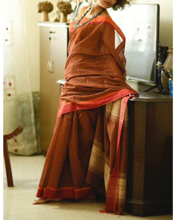 Orange and rust sari 1