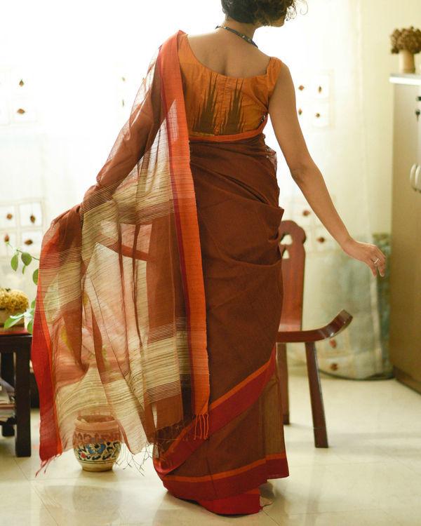 Orange and rust sari 2
