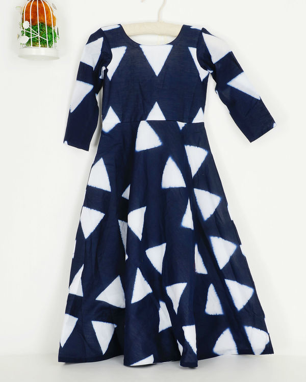 Navy triangle dress 1