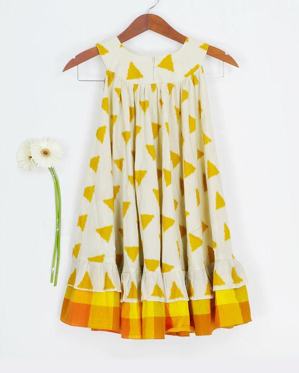 Mustard round collar dress 1
