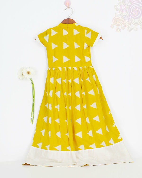 Mini yellow block dress 1