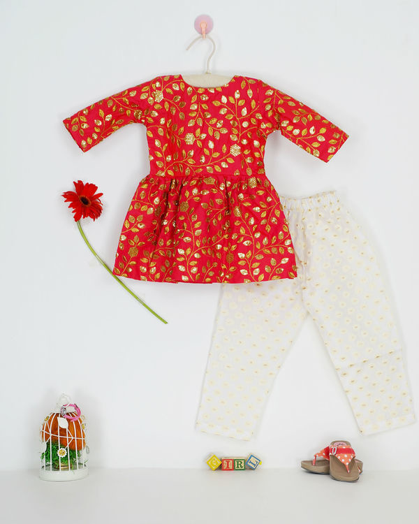 Red zari set 1