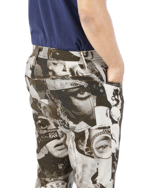 Collage print pants 2