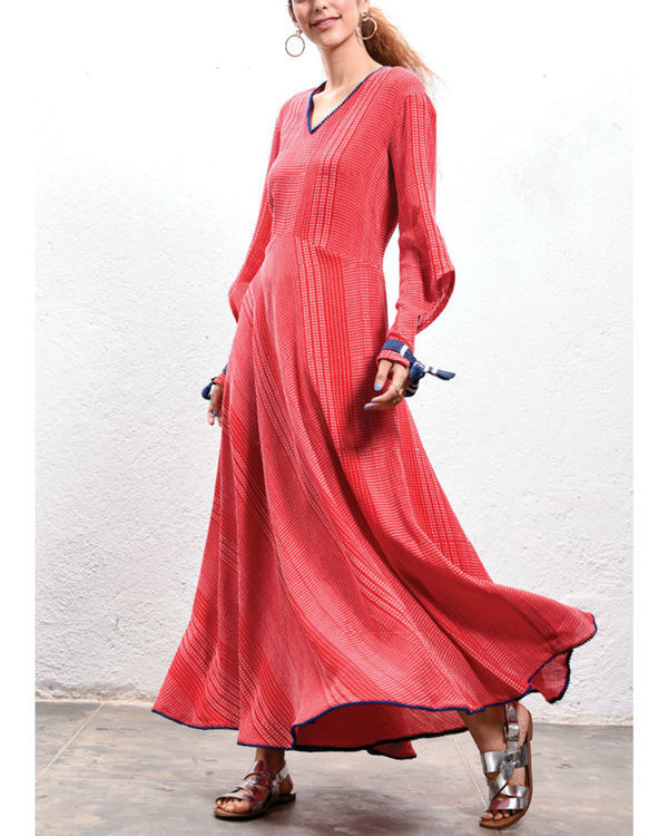 Tomato maxi dress 1