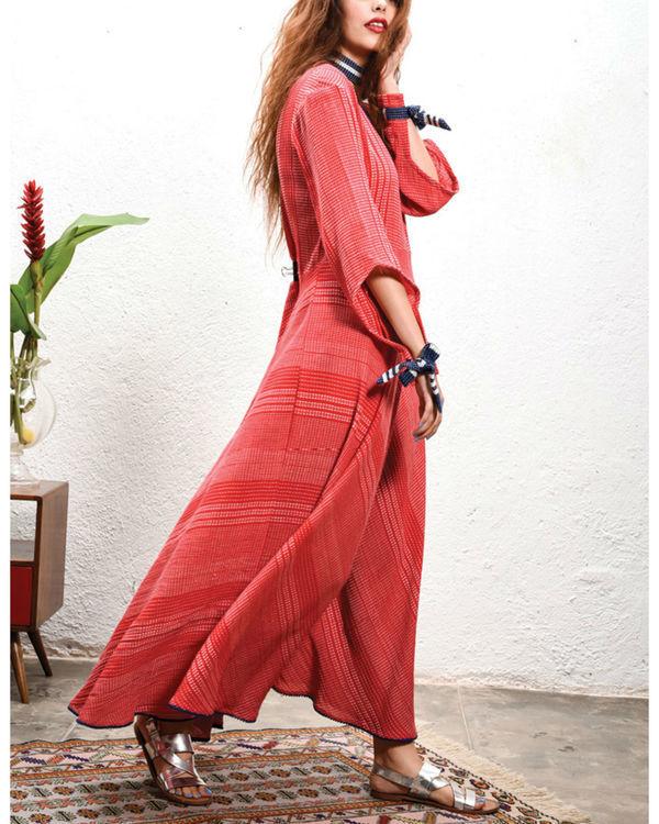 Tomato maxi dress 2