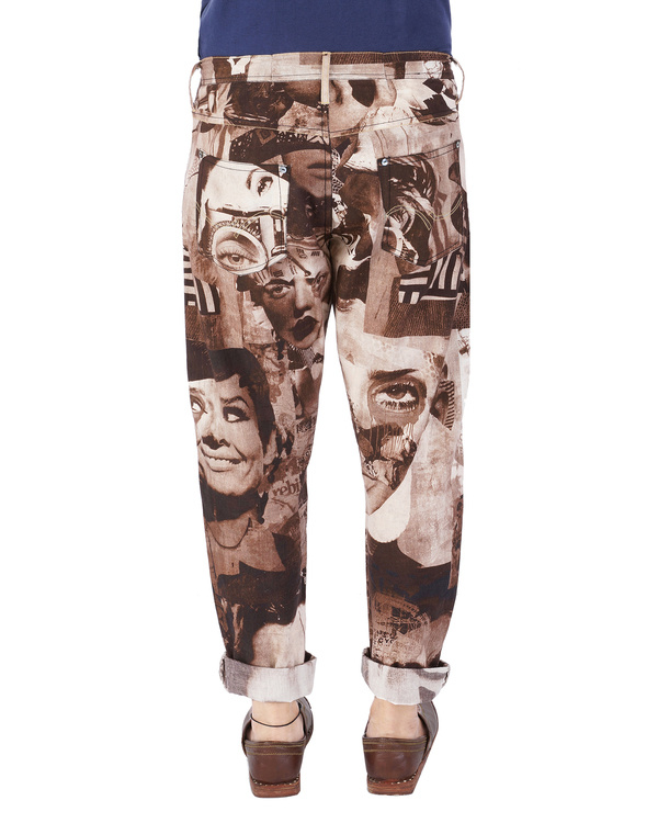 Collage print pants 2