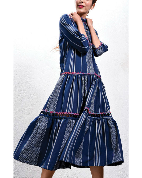 Navy tiered dress 1