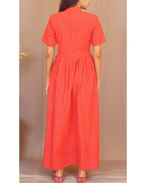 Red pleated maxi 2