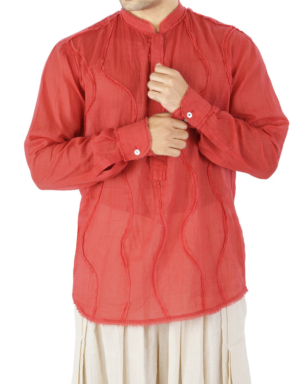 Red voile shirt 1