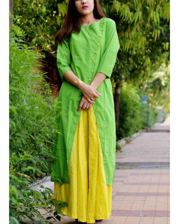 Lemon and green layered dress 1