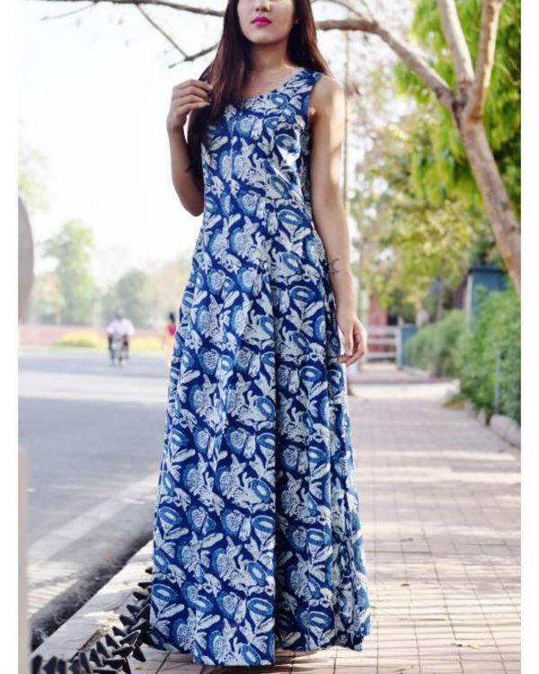 Princess flare indigo dress 1