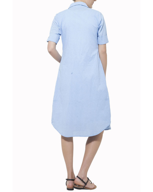 Set of blue cape with white dress 1