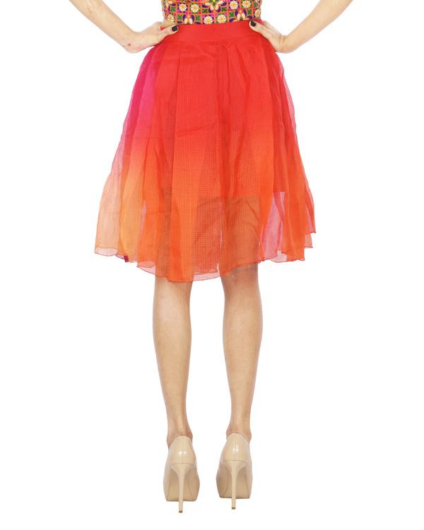 Multi color chanderi skirt 2