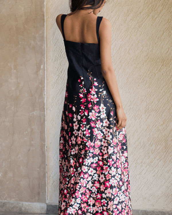 Slate floral gown 2