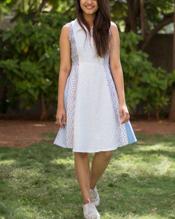 White multiprint dress 1