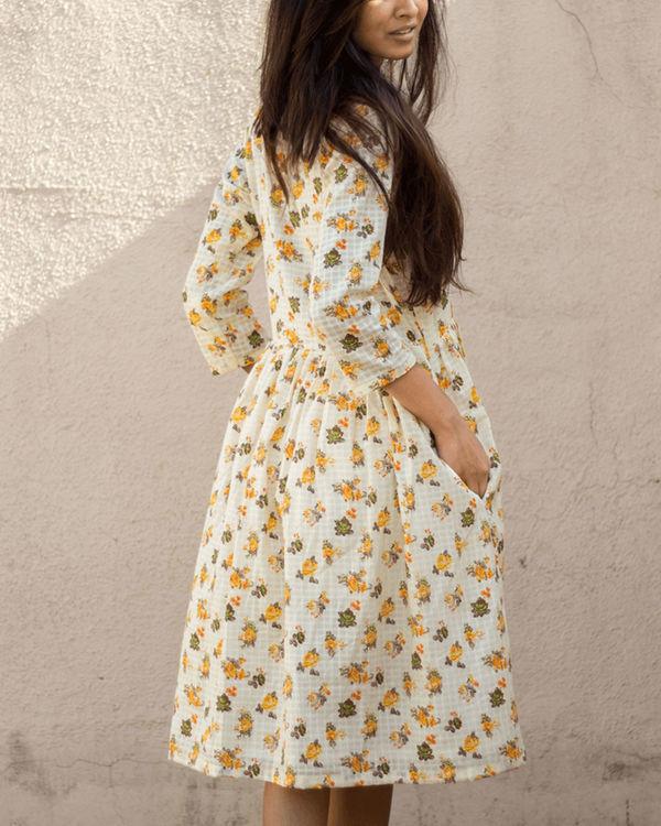 Yellow shirt dress 2