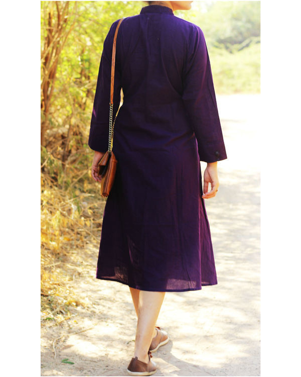 Aubergine shirt dress 1