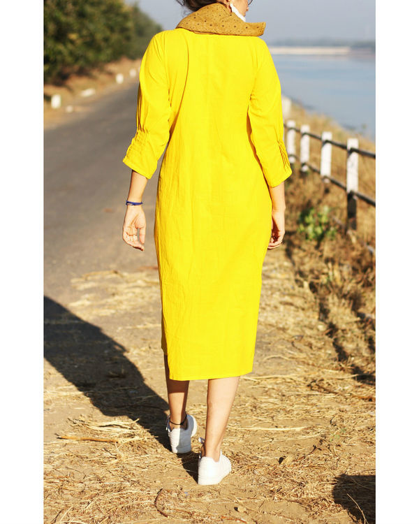 Yellow pintuck dress 2