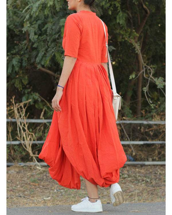 Peach dhoti dress 2