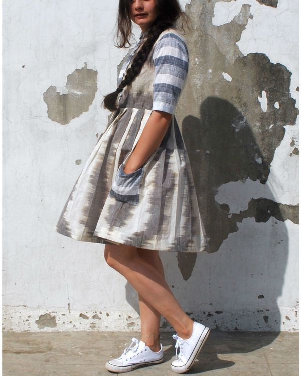 Mangalgiri grey skater dress 1