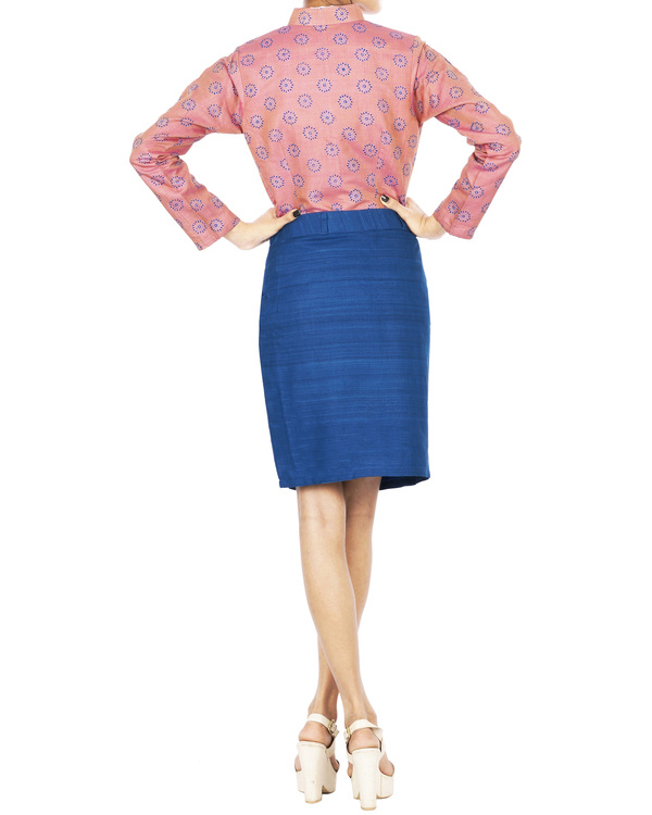 Tussar silk pencil skirt 1