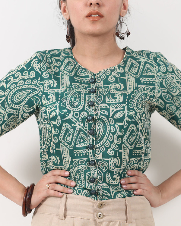Warli print buttoned top 2