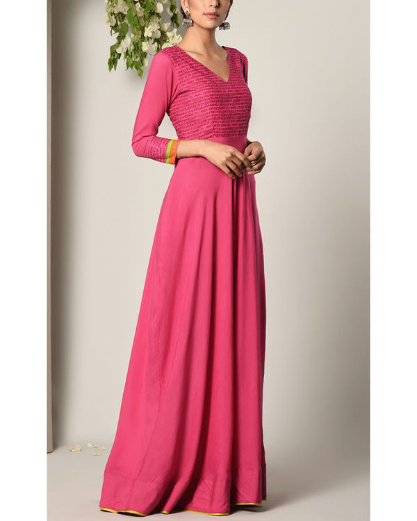 Pink script dress 2