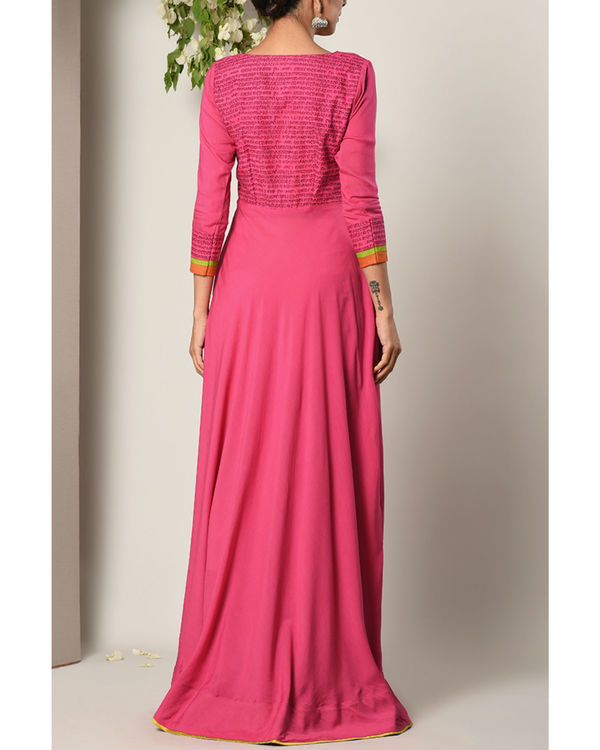 Pink script dress 3