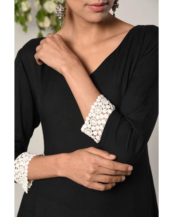 Black sleeve crochet dress 2