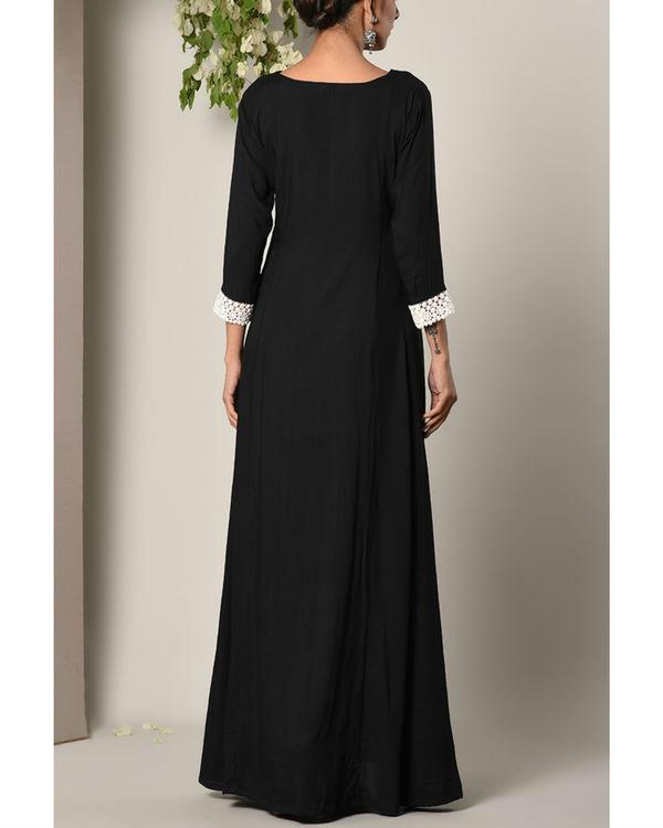 Black sleeve crochet dress 3