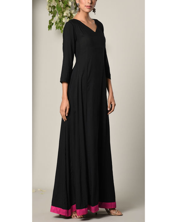Black pink border dress 2