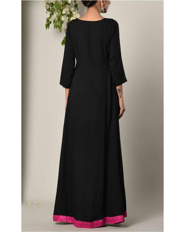 Black pink border dress 3