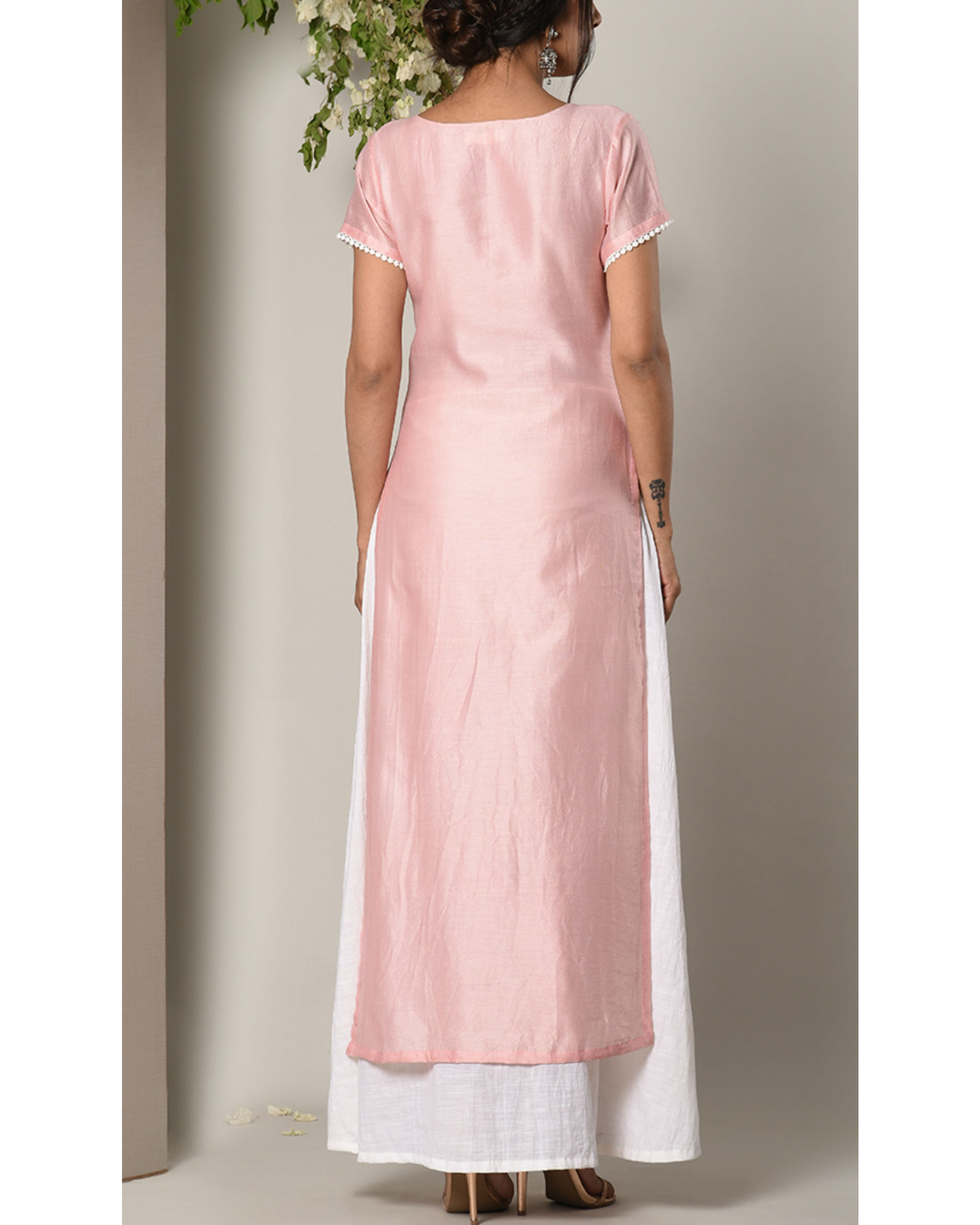Rose pink layer dress by trueBrowns