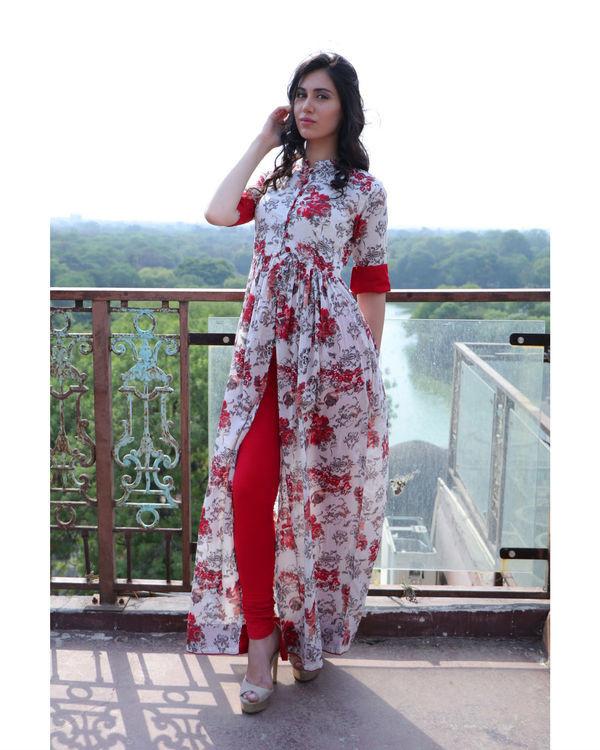 Floral kimono cape 1