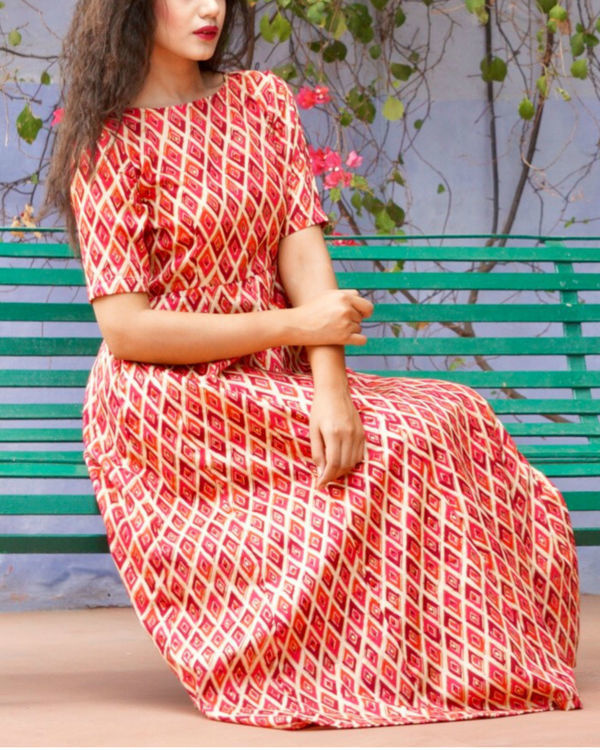 Red checkered maxi 1