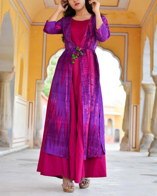 Purple tasseled cape with maxi 1