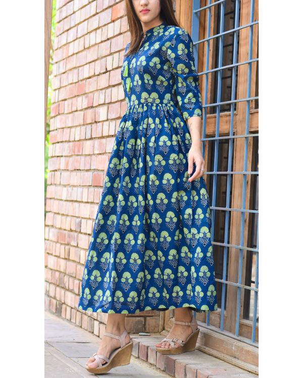 Blue and green tassel dress 1