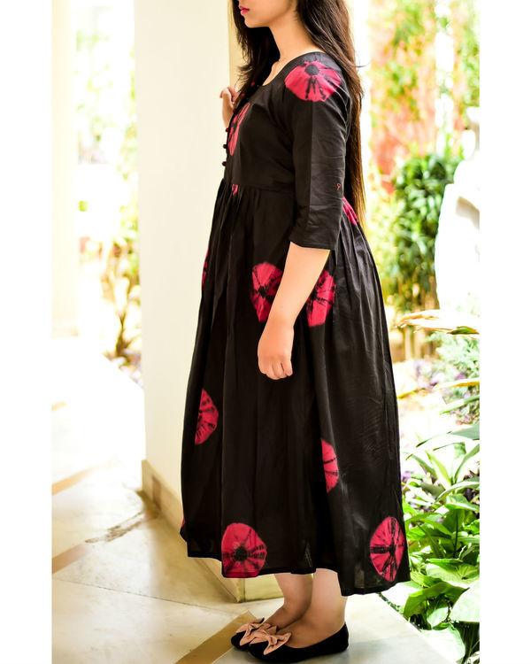 Marsala and black bandhini dress 1